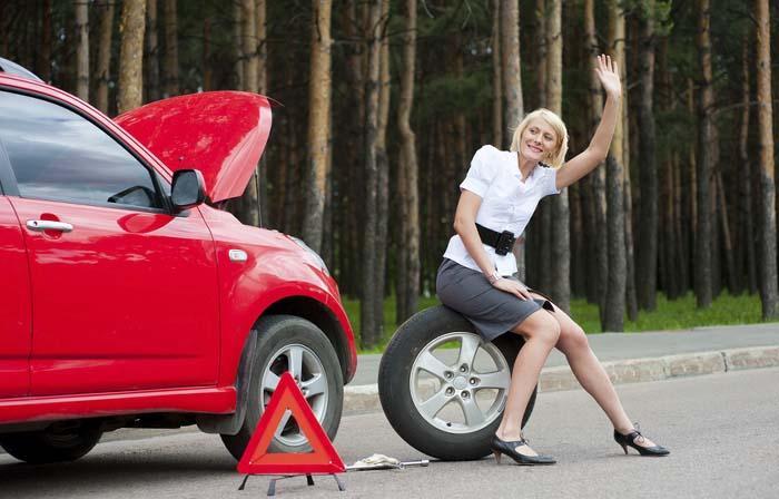 авто, женщина, колесо, помощь,
